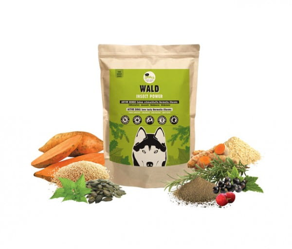 Eat Small WALD Insekten-Hundefutter mit Rapsöl, Leinöl & Kürbiskernen